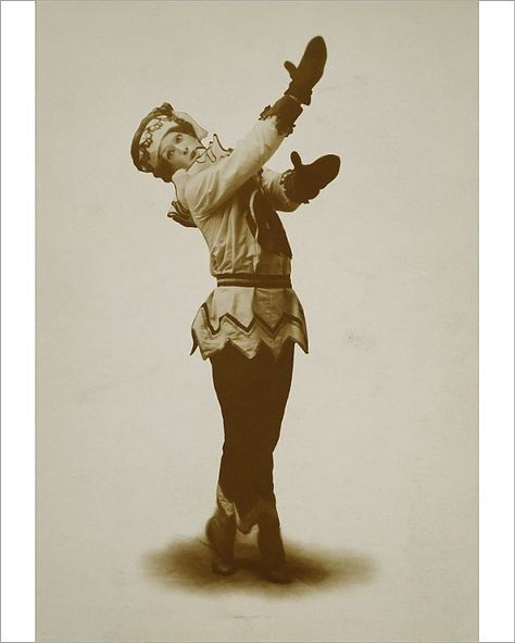 "VASLAV NIJINSKY (1890-1950). Russian dancer and choreographer, dancing the title role in ""Petrouchka"", c1911"
