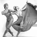 """Martha Graham Company dancers performing """"Golden Hall"""" in May, 1982. (Photo by Jack Mitchell/Getty Images)"""