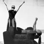 """Martha Graham and May O'Donnell performing in """"Cave of the Heart"""". (Photo by © CORBIS/Corbis via Getty Images)"""
