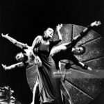 Paul Taylor, Martha Graham, and Bertram Ross performing Alcestis in 1962.  (Photo by Jack Mitchell/Getty Images)